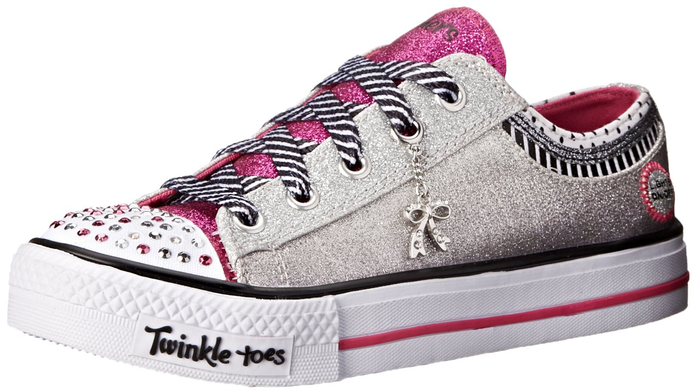Skechers Kids Twinkle Toes Charmingly Chic Lighted Sneaker (Little Kid) 10513L