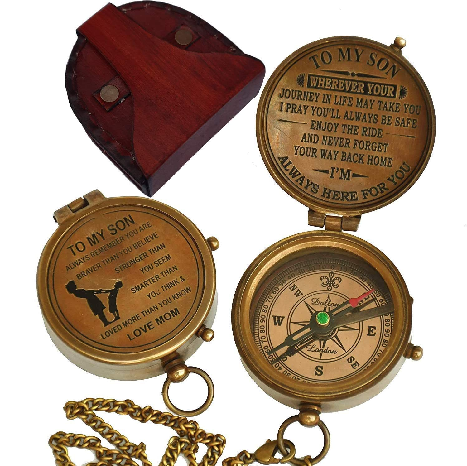 Antique Brass Compass Gift to My Son//Nautical Gift for Son from Dad//Gift