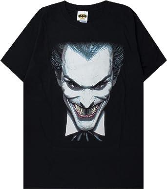 Manga Corta Negro los Hombres Payaso Cara de Joker Camiseta Informal: Amazon.es: Ropa y accesorios
