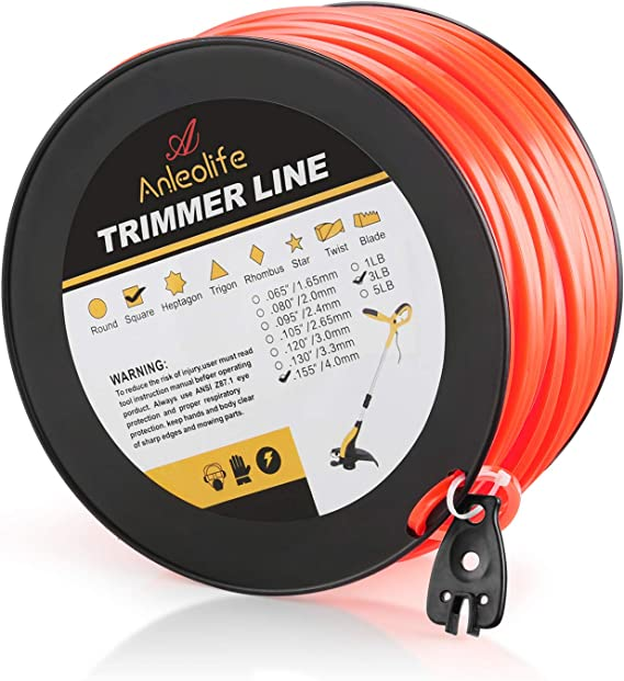 3 Lp Spool Commercial Diamond Cut Weedeater Trimmer Line # .155