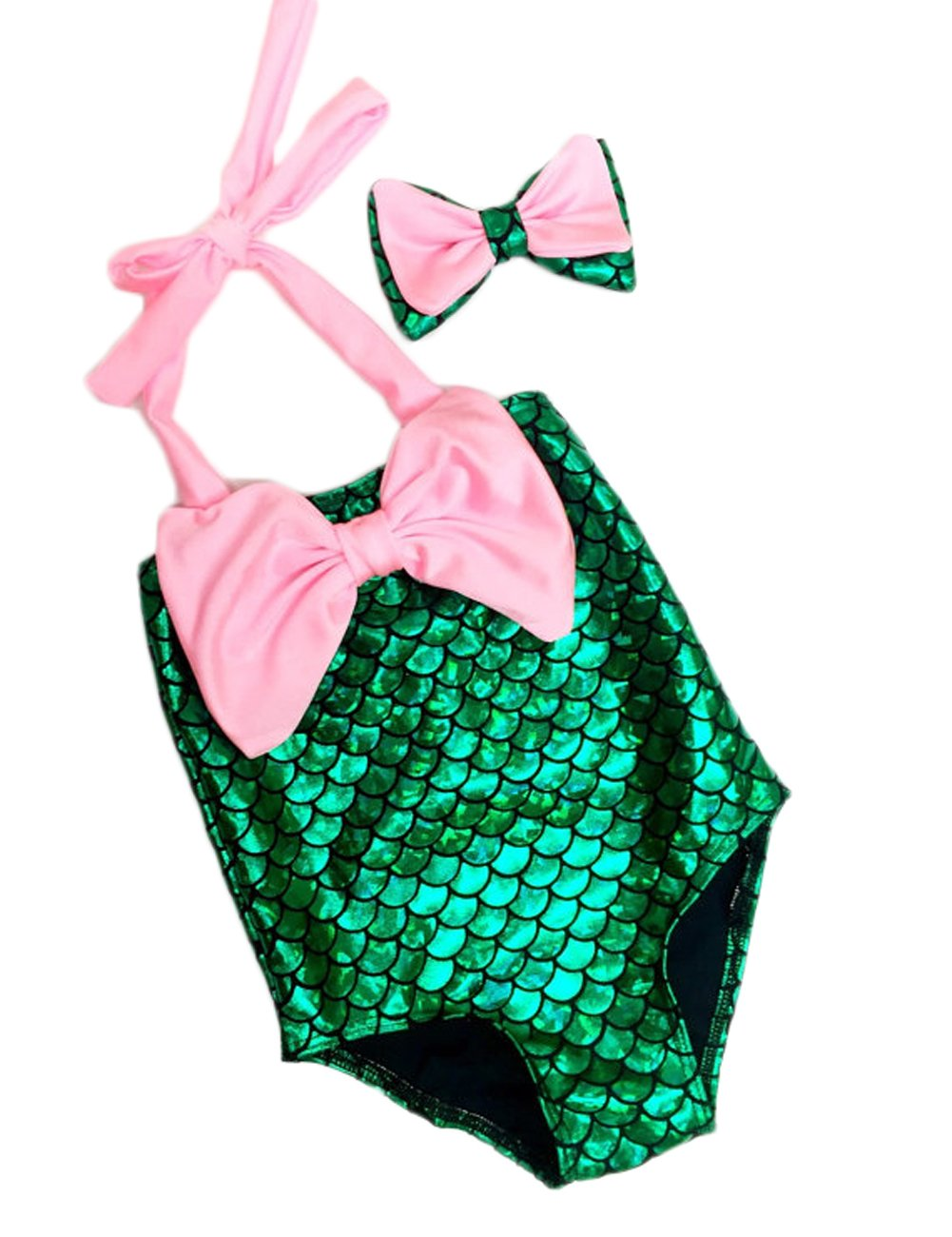 Magical Baby Little Girls One Piece Mermaid Swimwear Bikini Headband