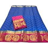 C J Enterprise Women's Cotton Silk saree With Blouse Piece