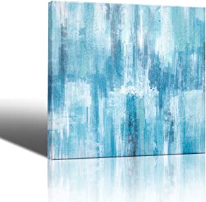 Abstract Canvas Artwork Blue Abstract Pictures Paintings Wall Decor for Bathroom Modern Popular Wall Decorations Wall Art for Bedroom Oil Paintings Size 14x14 Easy to Hang Room Wall Decorations