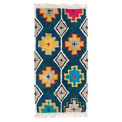 Chumbak Trellis Patterned Floor Rug