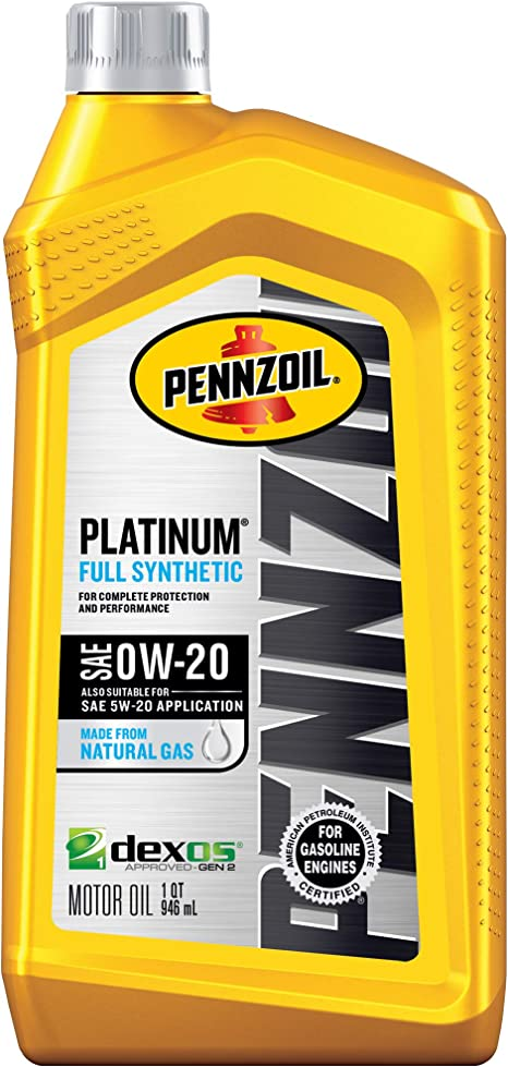 0w 20 Vs 5w 20 >> Pennzoil Platinum Full Synthetic Motor Oil Sae Sn 0w 20 1 Quart Pack Of 1