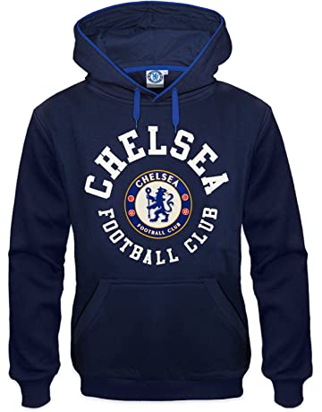 85c7e798 Chelsea FC Official Football Gift Mens Fleece Graphic Hoody Blue