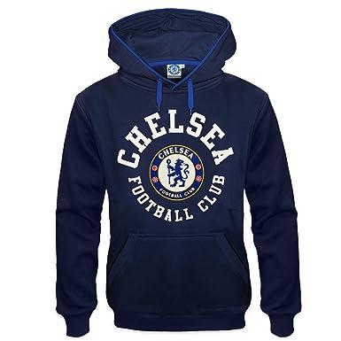 Chelsea FC - Sudadera oficial con capucha para hombre - Con el escudo del club - Forro polar - Azul: Amazon.es: Ropa y accesorios