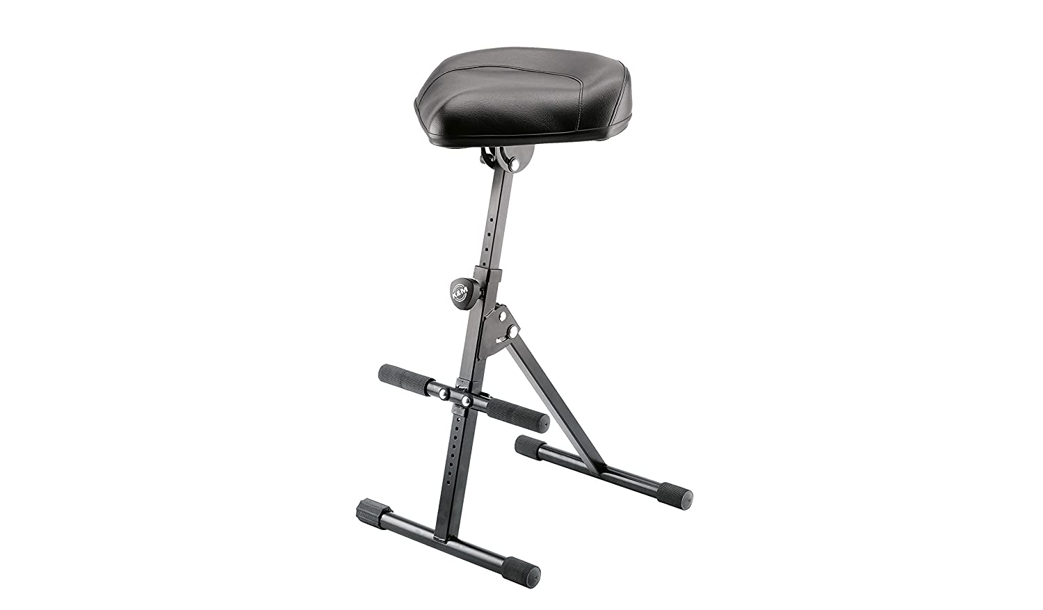 K& M Stands 14045 Black Ergonomic Stool with Height and Angle Adjustment 14045.000.55