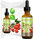 Botanical Beauty ORGANIC ROSEHIP OIL 100% Pure. For Face, Hair and Body. 0.5 Fl.oz.- 15 ml.