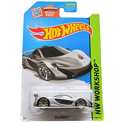 Hot Wheels 2015 HW Workshop McLaren P1 223/250, Silver: Toys & Games