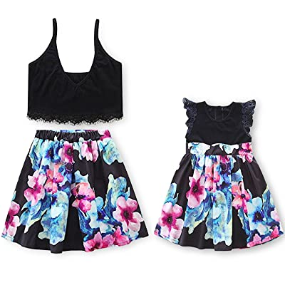 d16ece8b0f5 Garlagy 2018 Mommy and Me Family Matching Outfits for Mother Toddler Baby  Girl Casual Beach Dresses Summer Clothes Set