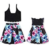 79b9dd6adcc1c Garlagy Mommy and Me Family Matching Outfits for Mother Girl Casual Dresses  Halloween Clothes Set for