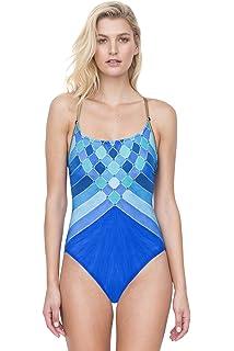 bca709c77e4fc Gottex Women s Mozambique One Piece Lingerie Strap Tank Swimsuit at ...