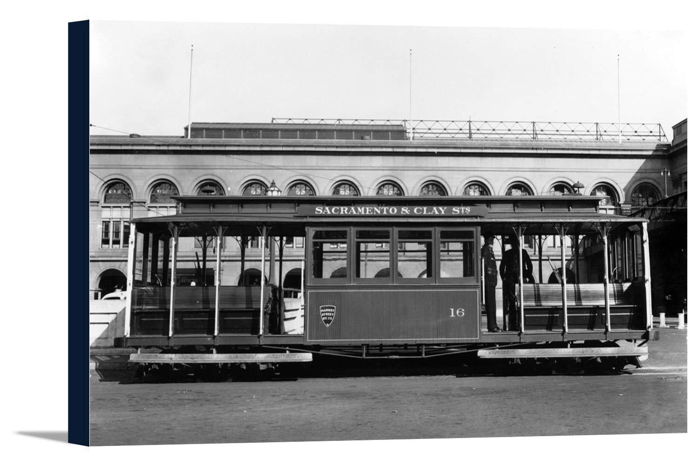 サクラメント、カリフォルニア – Market Street Railway Co。Train 36 x 21 5/8 Gallery Canvas LANT-3P-SC-10853-24x36 B0184AFPQ6  36 x 21 5/8 Gallery Canvas