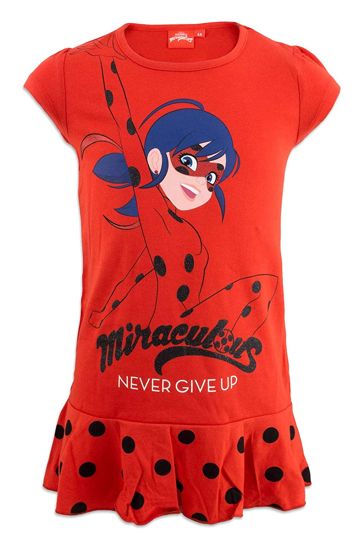 Fille 9312ES Miraculous LadyBug Cat Noir Chemise de Nuit