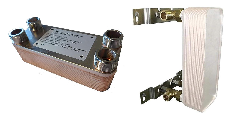 """100kW Edelstahl W/ärmetauscher Plattenw/ärmetauscher NORDIC TEC Ba-16-22 22 platten 1/"""""""