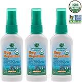 Greenerways Organic Insect Repellent Travel Size, Premium, USDA Organic, DEET-FREE, Natural, Mini Repellent Spray, Travel Size Repellent, Mosquito-Repellant, Bug Spray 3-PACK - (3) 2oz - MSRP $23.97