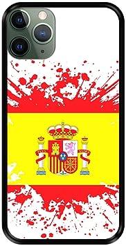 Funda Negra para [ iPhone 11 Pro MAX ] diseño [ Ilustración 1, Bandera de España ] Carcasa Silicona Flexible TPU: Amazon.es: Electrónica
