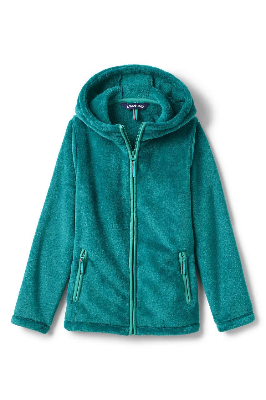 Lands' End Girls Softest Fleece Jacket Medium Tropic Teal by Lands' End