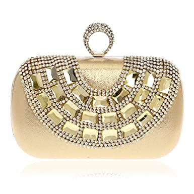 c68cf2847fa5 Amazon.com: Women Clutch Bag Purse Evening Handbag Glitter Diamante ...