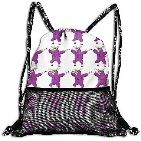 685888655472 Amazon.com: Adair Guy Unisex Drawstring Backpack Dabbing Llama Funny ...