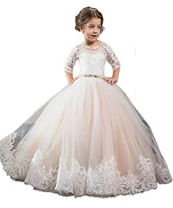 Amazon Feng Ziming Princess Flower Girl Dress Girls Pageant