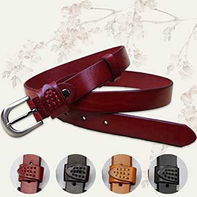Womens Genuine Leather Belts 100% Head Layer Jeans Belt Pin Buckle Fashion  All-match 6c90ed7198