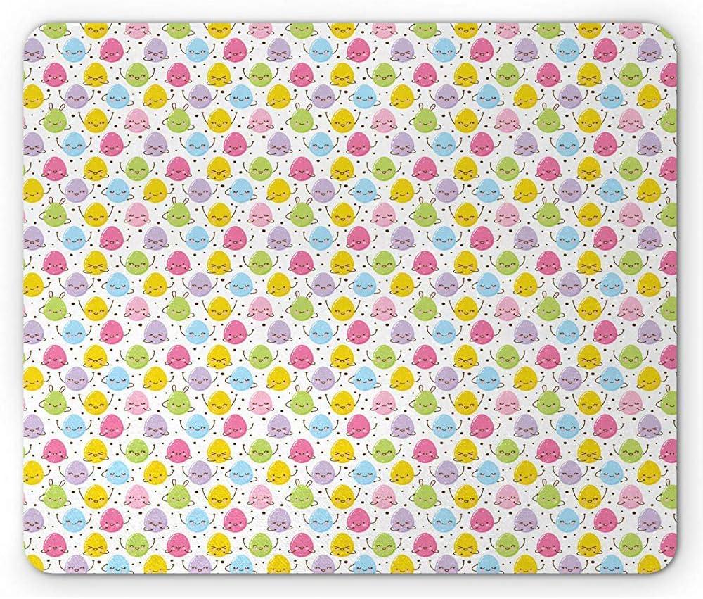Alfombrilla de ratón de Pascua, Coloridos Huevos Felices con ...