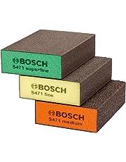 Bosch 2608621253Schleifmittel Schwamm Set–Blau (3-teilig)