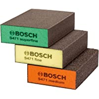 BOSCH 2608621253 - Esponjas abrasivas, pack de 3