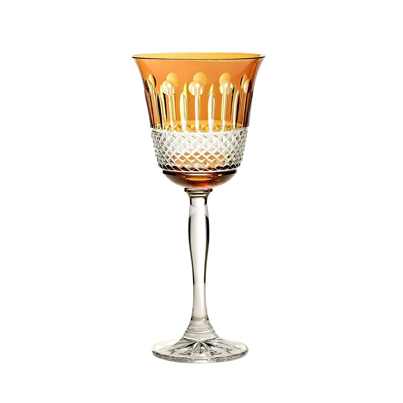 CRISTALICA Bicchiere da Vino Coloradio Bianco Bicchiere da Vino Rosso 220 ml Piombo Cristallo Giallo
