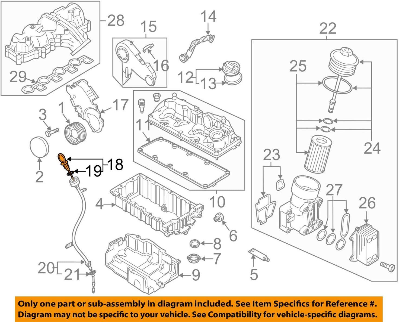 Amazon.com: Oil dipstick VW AUDI Beetle Convertible CC Eos Golf R32 GTI  Rabbit 03L115611T: AutomotiveAmazon.com