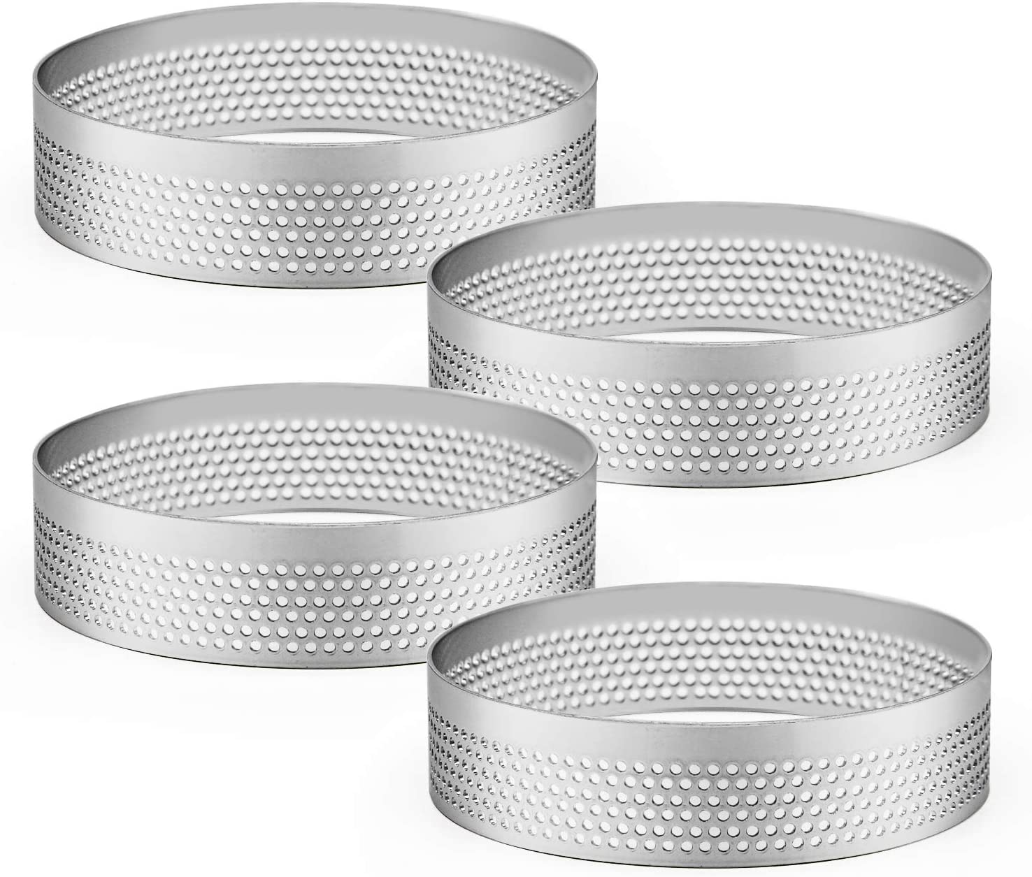 Cutter Stainless Steel Tart Ring Perforated Mousse Cake Mold Circle Mould