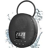 Waterproof Shower Speaker, AGPTEK Waterproof Bluetooth Speaker, Shower Radio with Bluetooth 5.0, LED Screen, Suction Cup…