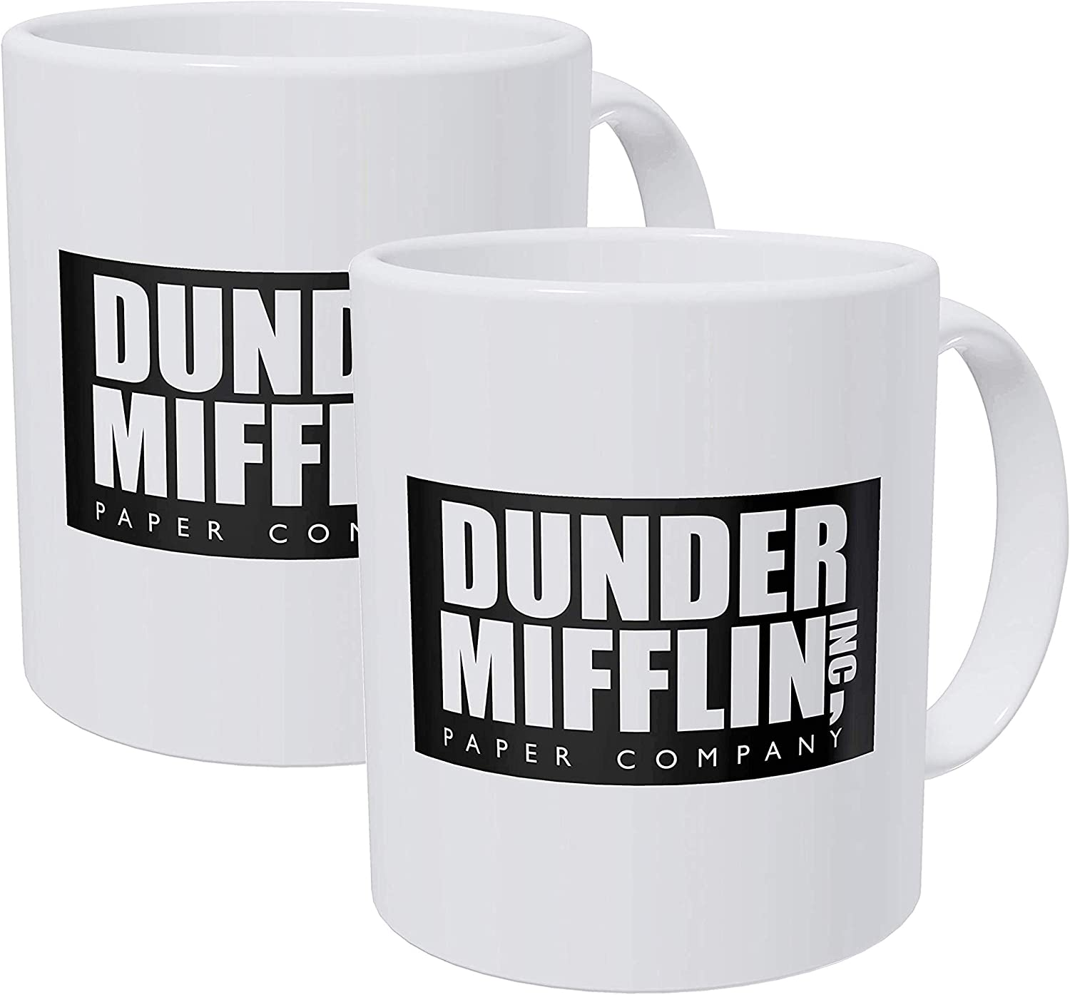 Willcallyou Pack Of 2 Dunder Mifflin Work Office 11 Ounces Funny Coffee Mug