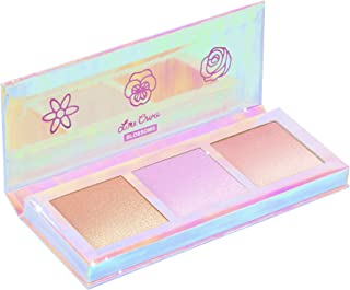 product image for Lime Crime Hi-Lite Blossom Highlighter Palette - Warm-N-Cool Iridescent Powder Trio - For All Skin Tones - In 3 Shades, Gold, Lavender & Sunset - For Face or Body - Vegan
