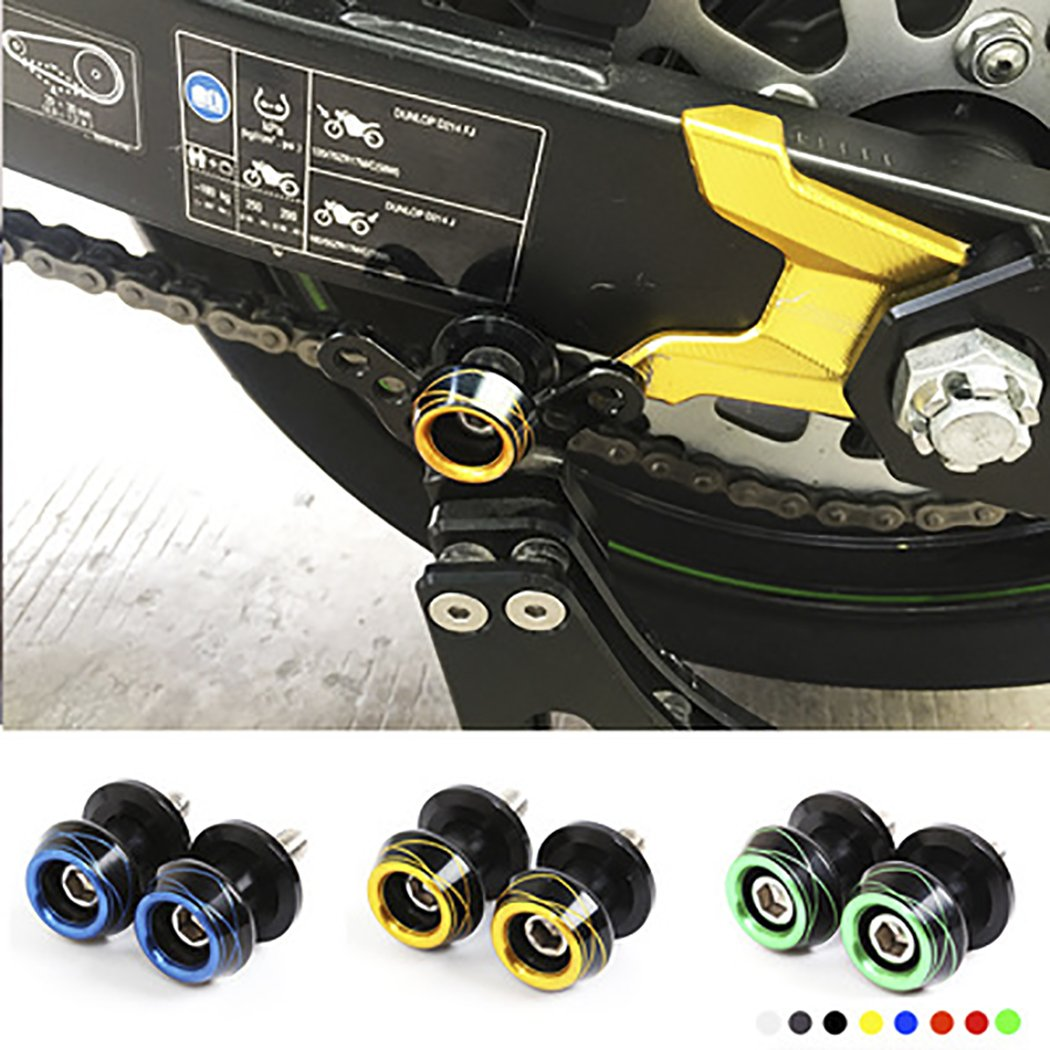 Motorcycle Racing Sport Accessories Swingarm Spool Slider Bobbins Stand for Honda Suzuki Ducati Kawasaki about 8mm blue