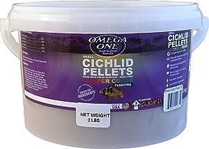 Omega One Super Color Floating Cichlid Pellets, 3mm Small Pellets