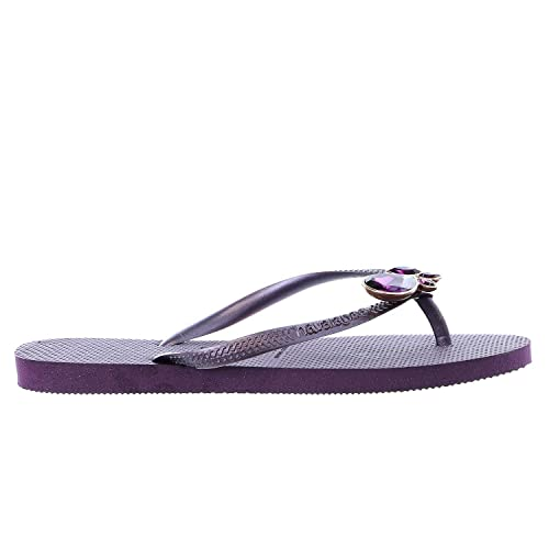 80942ffbf1627 Havaianas Slim Lux Swarovski Flip Flop Thong Sandal - Womens Aubergine  41-42 BR   11-12 B(M) US  Buy Online at Low Prices in India - Amazon.in
