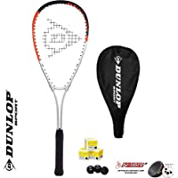 DUNLOP Hyper Ti 4.0 - Raqueta de squash y 3 pelotas de squash