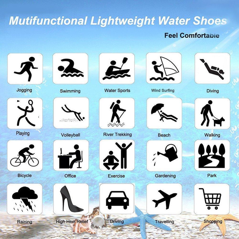 Water Shoes Mens Womens Beach Swim Shoes Quick-Dry Aqua Socks Pool Shoes for Surf Yoga Water Aerobics B0796S4JSM 12 D(M) US|Fivefingers-blue Star