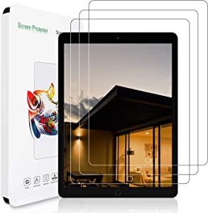 3-Pack iPad 8th Generation / 7th Generation Screen Protector 10.2 Inch [Tempered Glass] [Bubble-Free] [Anti-Scratch] Compatible with Apple Pencil for New iPad 8th Gen 2020 / iPad 7th Gen 2019