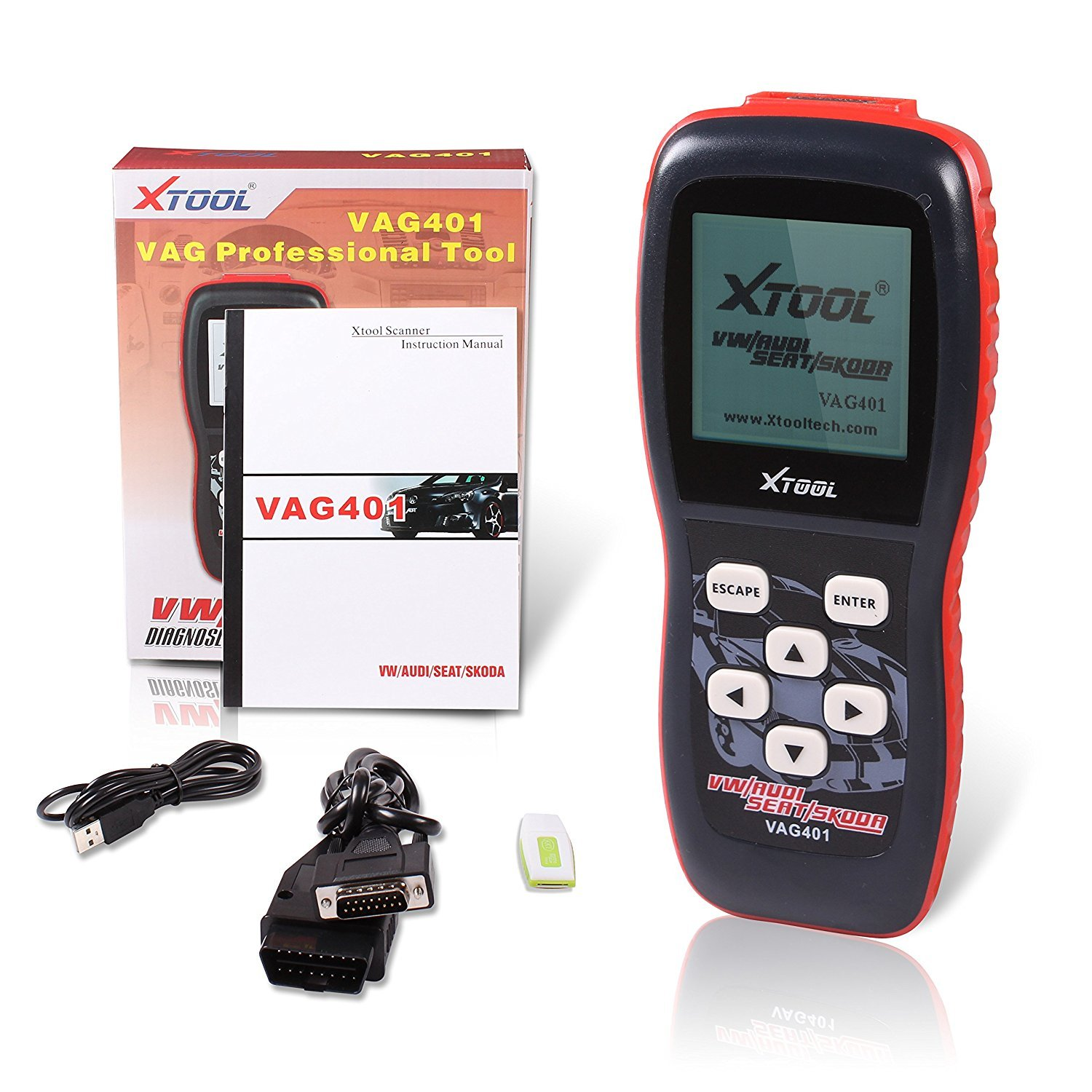 XTOOL VAG401 Live Data OBD2 Auto Scanner for VW, Audi, Seat and Skoda with Oil Reset, Airbag Reset and Actuation Test Function by XTOOL (Image #4)