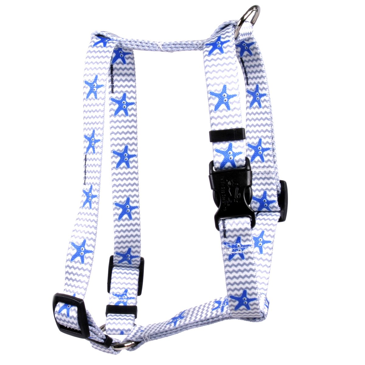 Yellow Dog Design Starfish Baby Roman Style H Dog Harness-X-Large-1'' and fits Chest 28 to 36''