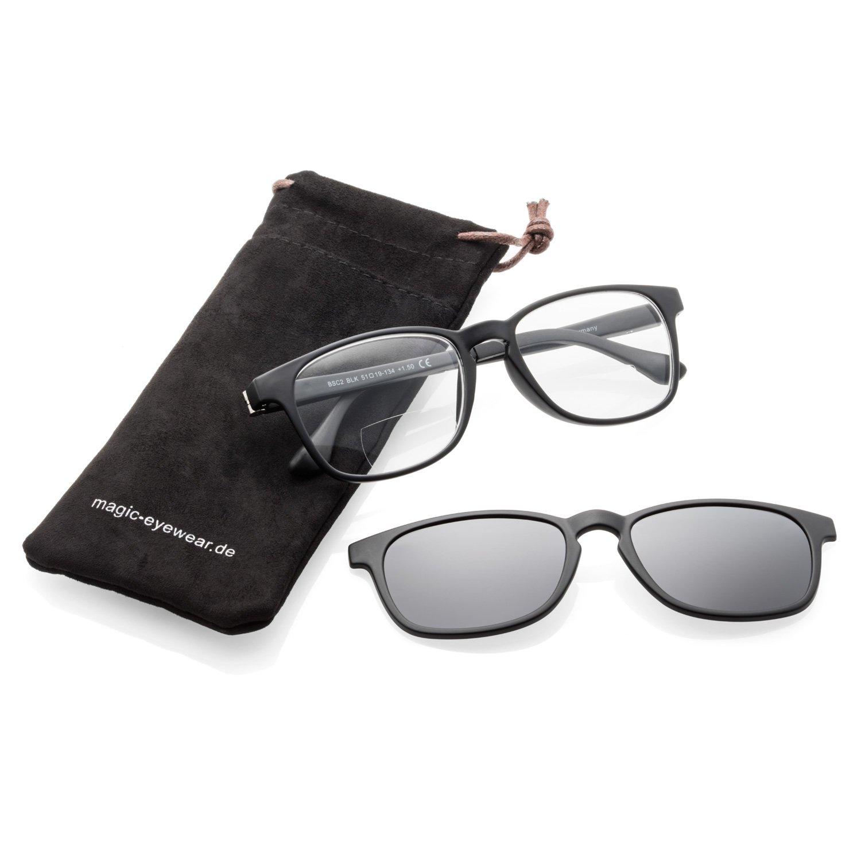 bifocales Gafas Gafas de Lectura para hombre magnético con sol Clip   Amazon.es  Salud y cuidado personal ab7a543ced