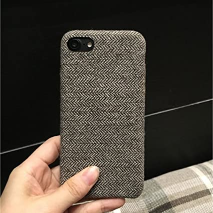 904e42b23ea Go Hooked JMM Woollen Fabric Texture Designer Soft Cover for iPhone 6  Plus/6S Plus (Grey)