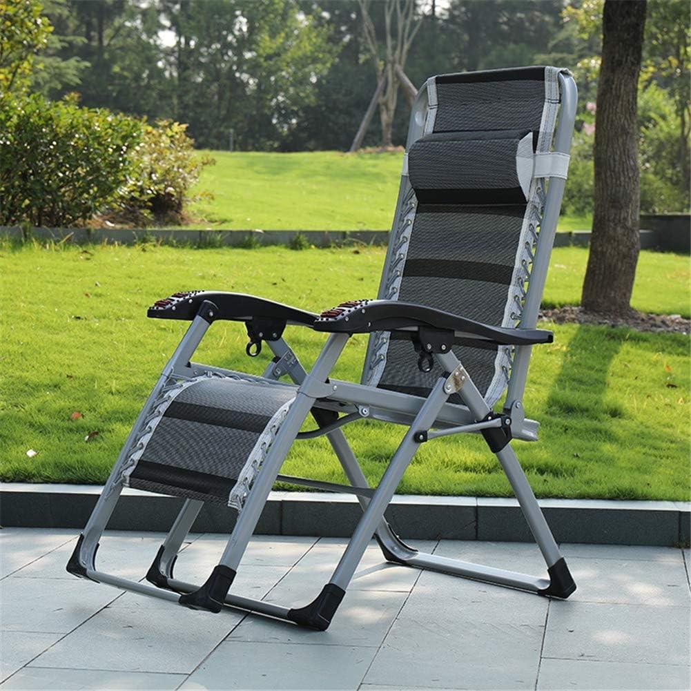 Hamaca plegable Ocio, Juego de 2 sillas de ruedas, Apoyabrazos extraíble con apoyo para la cabeza y llave de bloqueo de diseño, fuerte Capacidad de carga, para al aire libre Jardín Terrazas,Gris