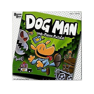 University Games Dog Man Unleashed 100 Piece Puzzle: Toys & Games