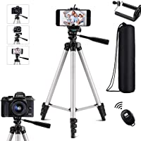 Extendable Tripod,Portable Lightweight Travel Tripod Stand with Carrying Bag,Adjustable Phone Tripod,Camera Tripod with…
