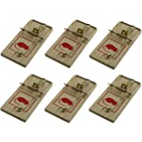 BRAND NEW WOODEN TRADITIONAL 6 PC OF REUSABLE MOUSE TRAP / MICE KILLER - NO POISON NECESSARY - EASY TO USE AND REUSABLE- NOT A TOY KEEP AWAY FROM CHILDREN